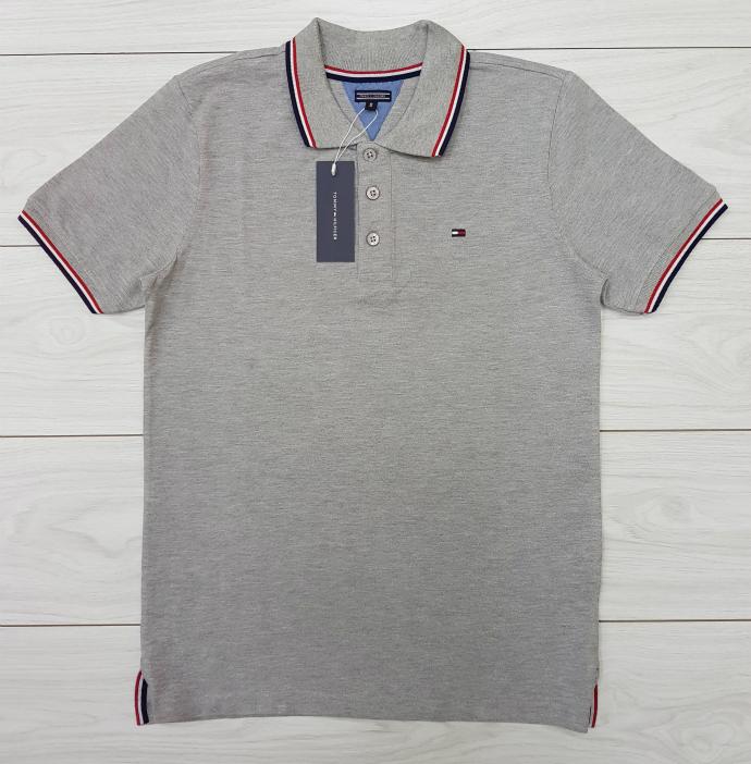 TOMMY - HILFIGER Mens Polo Shirt  (GRAY) (S - M - L - XL )