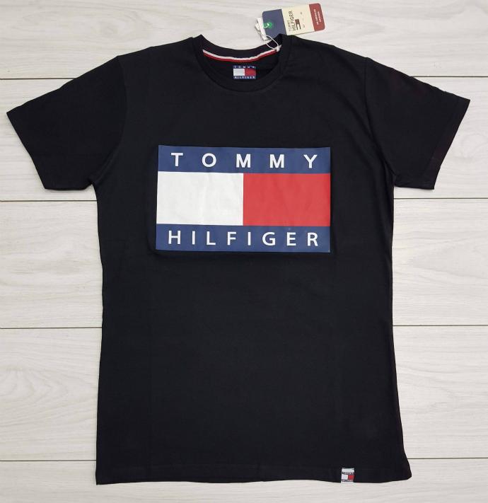 TOMMY - HILFIGER Mens T-Shirt (BLACK) (S - M - L - XL )