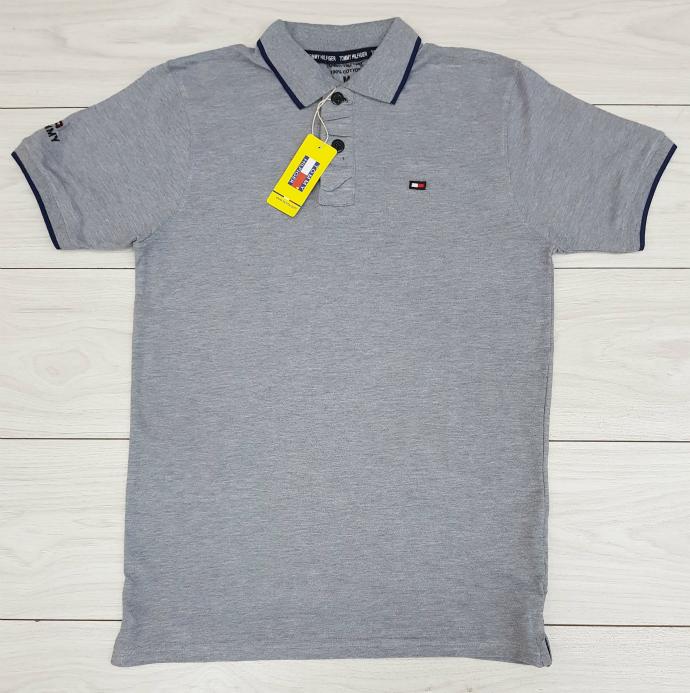 TOMMY HILFIGER Mens Polo Shirt (GRAY) (M - L - XL)