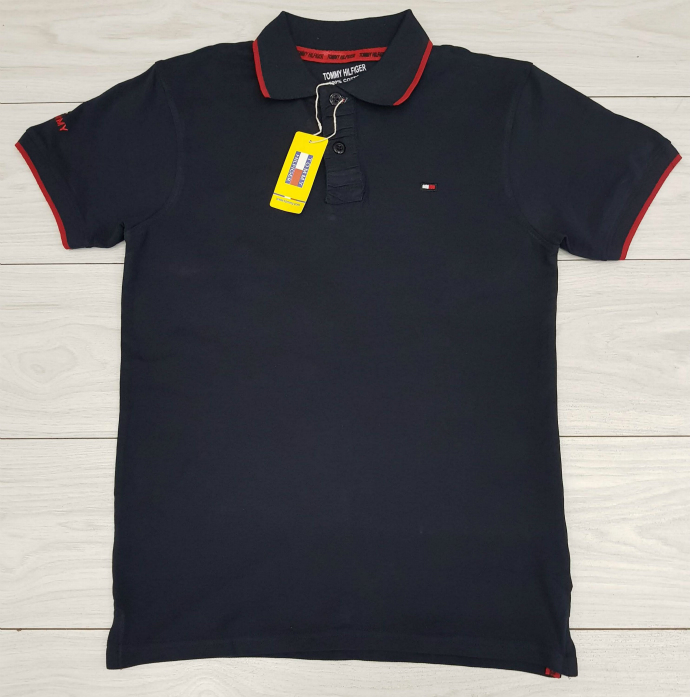 TOMMY HILFIGER Mens Polo Shirt (NAVY) (M - L - XL)
