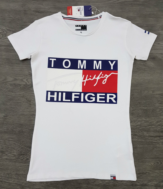 TOMMY HILFIGER Ladies T-Shirt (WHITE) (S - M - L - XL)