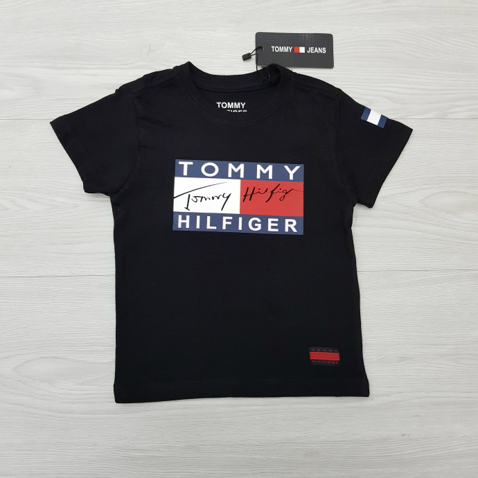 TOMMY HILFIGER Boys T-Shirt (BLACK) (1 to 10 Years)