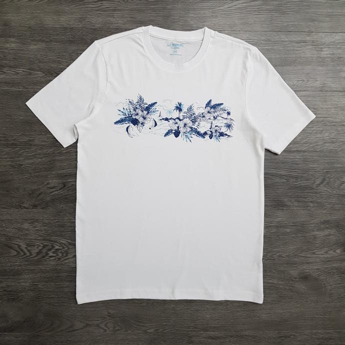 LC WAIKIKI Mens T-shirt (WHITE) (XS - S - M - L - XL - 3XL)