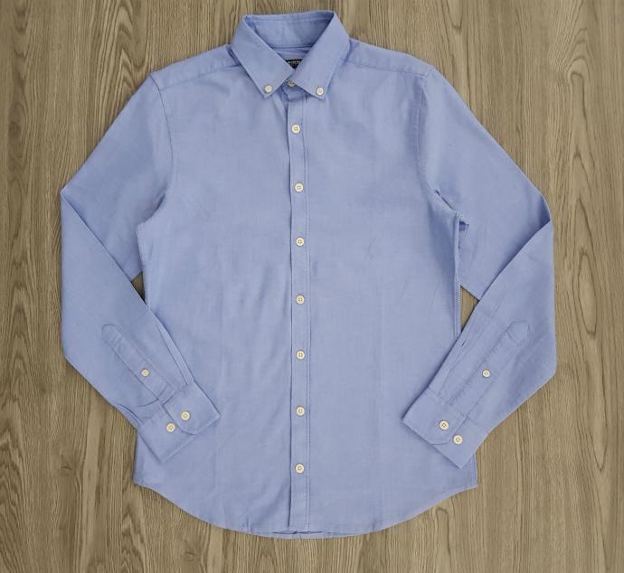 LC WAIKIKI Mens Sleeve Shirt (BLUE) (XS - S - XL - 2XL - 3XL)