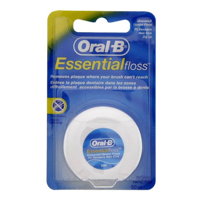 ORAL-B Essential dental floss unwaxed (50m) (MOS)