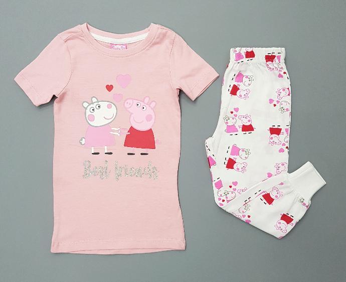 PEPPA PIG Girls 2 Pcs Pyjama Set (PINK - WHITE) (12 Months to 6 Years)