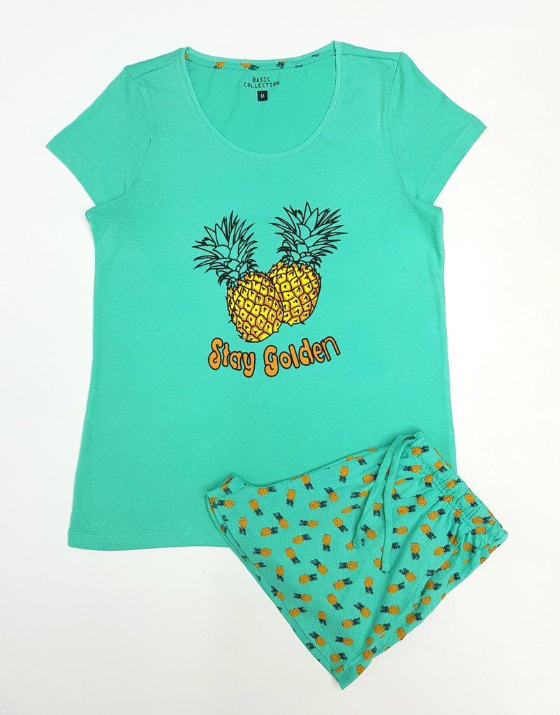Ladies 2 Pcs Pyjamas Set