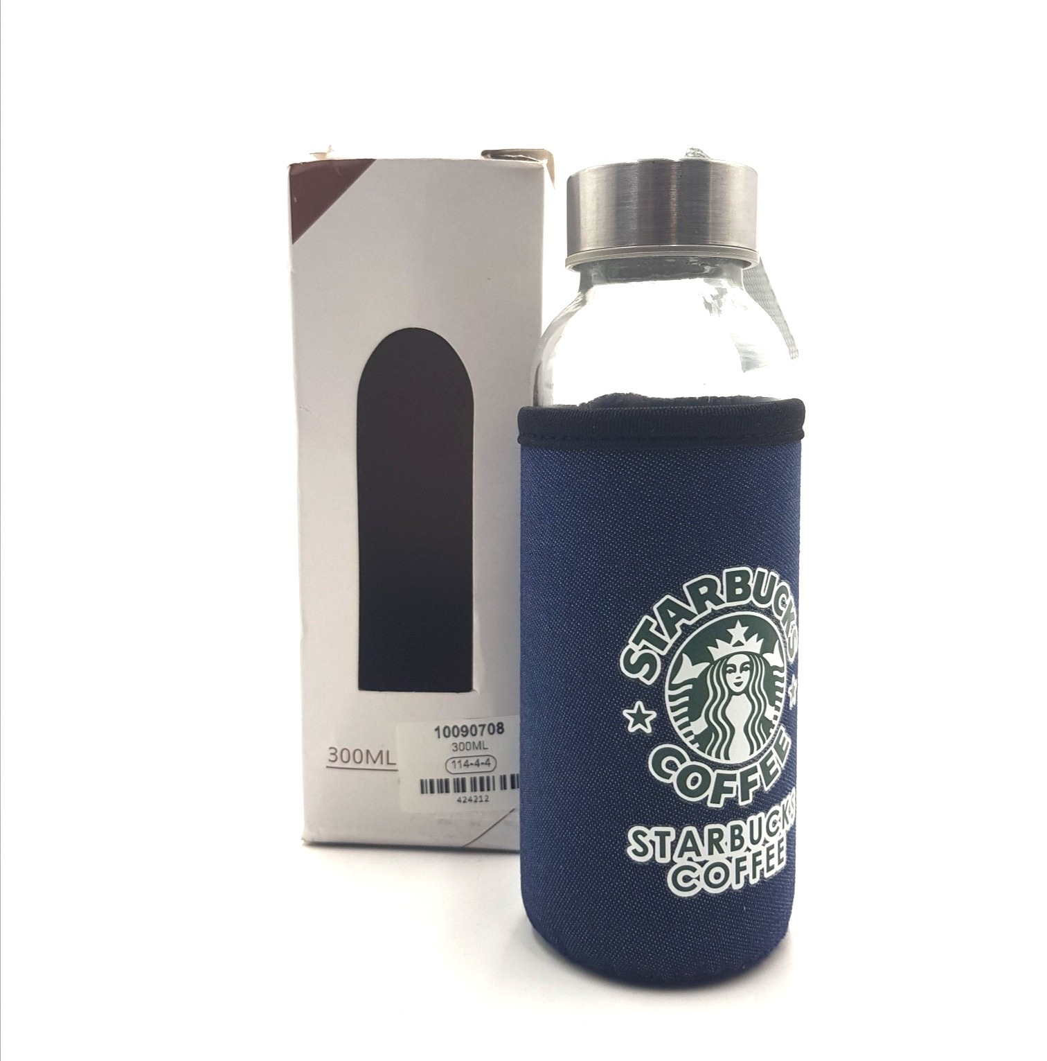 Thermal bottle in a cover, 300 ml, glass