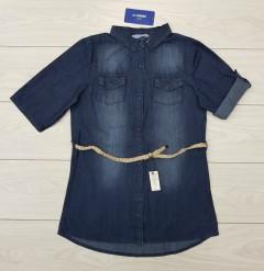 LC WAIKIKI Ladies Long Sleeved Shirt Jeans (BLUE) (S - M - L - XL )