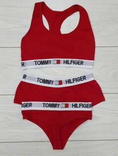TOMMY - HILFIGER Ladies Turkey 3 Pieces Bikini Set (RED) (S - M - L)