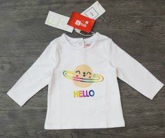 Girls Long Sleeved Shirt (WHITE) (LP) (FM) (3 to 24 Months)