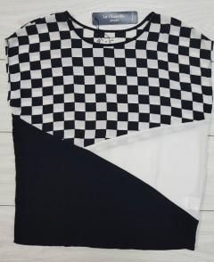 LA CHAPELLE Ladies Dress (BLACK - WHITE) (LC) (S - M)