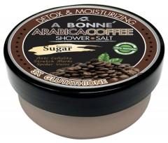 A BONNE A BONNE' Arabica Coffee Premium Sugar Shower Salt Body Scrub Detox & Moiturizing (mos)