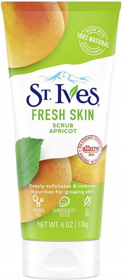 ST. IVES St. Ives Fresh Skin Apricot Scrub Deeply Exfoliates for glowing skin 6 oz, 170g (mos)
