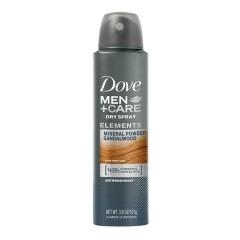 DOVE Dove Men's Care Mineral Powder Sandalwood Elements Antiperspirant Dry Spray (mos)