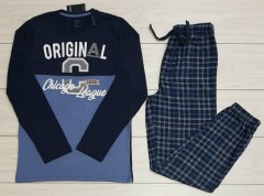 LIVERGY Mens Pyjama Set (NAVY- BLUE) (S - M - L - XL)