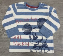 Boys Long Sleeved Shirt (BLUE - WHITE) (FM) (3 to 24 Months)