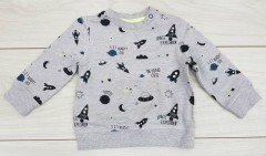 Boys Long Sleeved Shirt (GRAY) (3 to 24 Months)