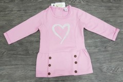 Girls Long Sleeved Shirt (LIGHT PINK) (6 Months to 8 Years)