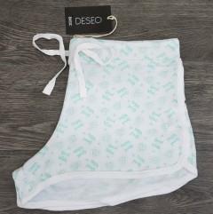 BASIC Ladies Short (WHITE - GREEN) (L)