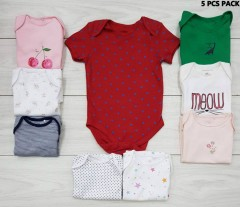 5 Pcs Kids Romper Pack (Random color) (1 Months to 2 Years)