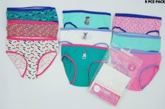 9 Pcs Girls Briefs Pack (Random color) (4 to 14 Years)