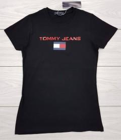 TOMMY HILFIGER Ladies T-Shirt (BLACK) (S - M - L - XL)