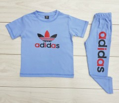 ADIDAS Boys 2 Pcs T-Shirt + Pants Sport Set (BLUE) (2 to 12 Years)