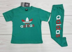 ADIDAS Boys 2 Pcs T-Shirt + Pants Sport Set (GREEN) (2 to 12 Years)