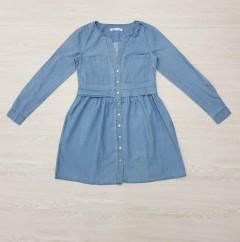 SINSAY Ladies Denim Dress (BLUE) (XXS - XS - S - M - L - XL)