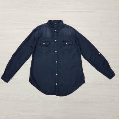 Ladies Shirt (NAVY) (XS - S - M - L - XL)