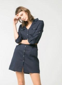 MANGO Ladies Shirt Dress (NAVY) (S - M - L - XL - XXL)