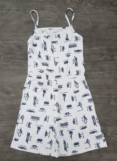 BASICS Ladies Jumpsuit (WHITE) (XXS - XS - S - M - L - XL - XXL)