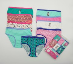 9 Pcs Girls Briefs Pack (Random color) (4 to 18 Years)