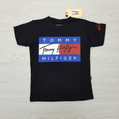 TOMMY HILFIGER Boys T-Shirt (BLACK) (2 to 16 Years)