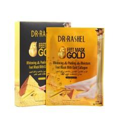 DR RASHEL Whitening & Peeling & Moisture golden Feet Mask with Gold Collagen Foot Mask Exfoli Sock(MOS)