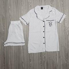 VICTORIA SECRET Ladies Turkey Sleepwear Set  2Pcs (WHITE) (S - M - L - XL)