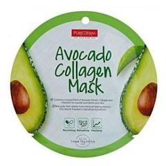 PUREDERM Avocado Collagen Mask(18g)(MOS)