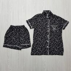 VICTORYA SECRET Ladies Turkey 2 Pcs Sleepwear Set (BLACK) (S - M - L - XL)
