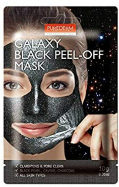 PUREDERM GALAXY BLACK PEEL-OFF MASK  for all skin tipes(MOS)