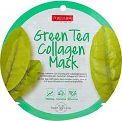 PUREDERM Green tea Collagen Mask(18g)(MOS)