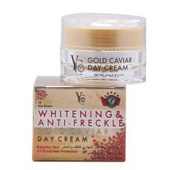 YC yc whitening & anti freckle gold caviar day cream review (MOS)