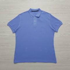 CAPORICCIO Mens Polo Shirt (LIGHT BLUE) (L)
