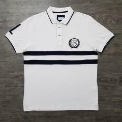 CAPORICCIO Mens Polo Shirt (WHITE) (L)