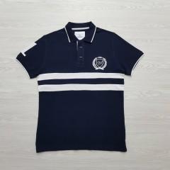 CAPORICCIO Mens Polo Shirt (NAVY) (S - M - XL - XXL)