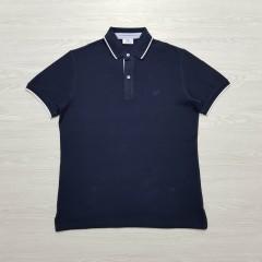 CAPORICCIO Mens Polo Shirt (NAVY) (S - M - L - XL )