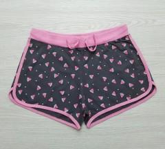 Y.F.K Girls Shorts (BLACK - PINK) (14 years)