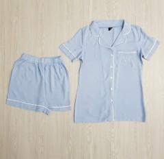 VICTORIA SECRET Ladies Turkey 2 Pcs Sleepwear Set (LIGHT BLUE) (S - M - L - XL)
