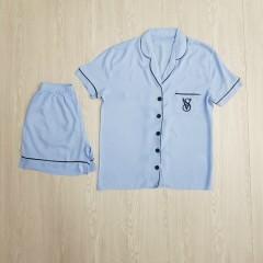 VICTORIA SECRET Ladies Turkey 2 Pcs Sleepwear Set (BLUE) (S - M - L - XL)