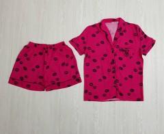 VICTORIA SECRET Ladies Turkey 2 Pcs Sleepwear Set (PINK) (S - M - L - XL)